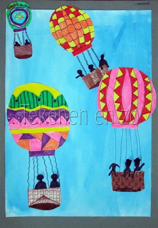 Tekenen en zo: Heteluchtballonnen