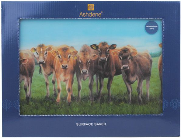 Jersey Cows Glass Cutting Chopping Board from Sarah J Home Decor. $17.95