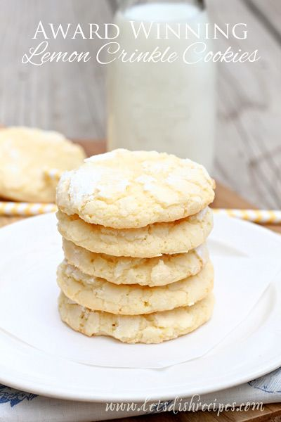Award Winning Lemon Crinkle Cookies — Let's Dish Recipes