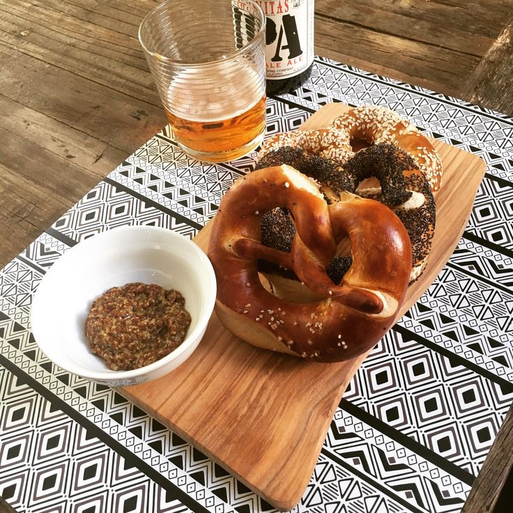 It's a perfect match beer and pretzels .