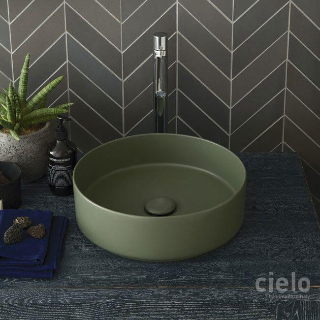 Rectangula on top washbasin 60 colored Brina Shui Comfort