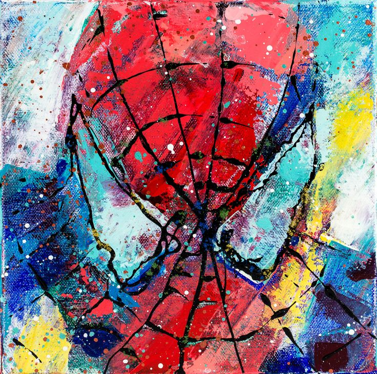 SPIDERMAN painting 8 Original splatter art Wall by CalinaLefter