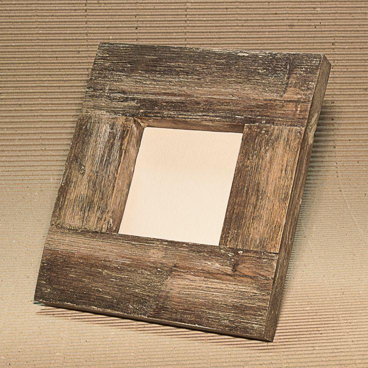 Cornice da tavolo • 19,5 x 22 cm • Legno di recupero