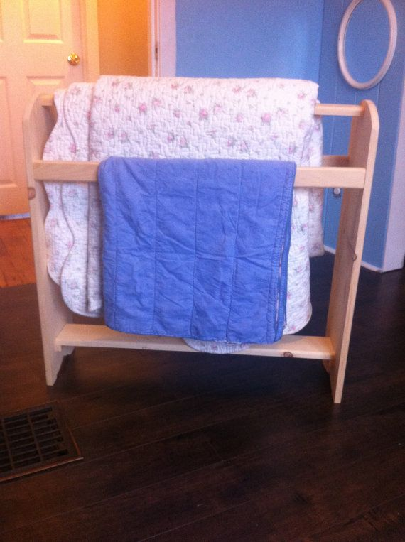 Wooden Furniture Quilt Rack made in solid by CanadianWoodenCrafts