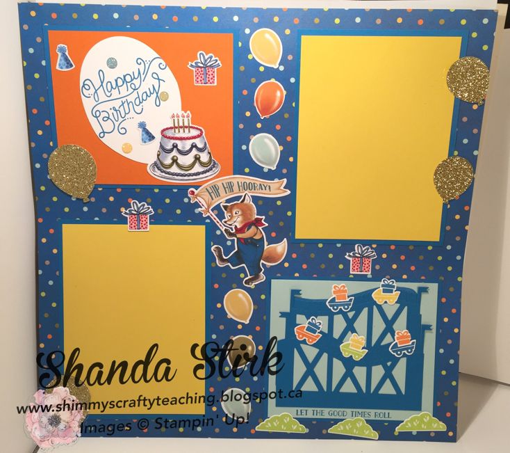 I made the scrapbook page for my grandson using Let the Good Times Roll bundle along with the Birthday Delivery Bundle.   It is the first ti...