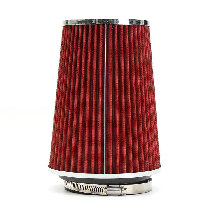 """4 Inch Red Truck Long Performance High Flow Cold Air Intake Cone Dry Filter Car Air Filter  Feature: 1.A air cleaner system developed for high performance vehicles. 2.Filter consisted of 2 layers to double the filtration efficiency. 3.It comes with a washable and reusable cone air filter and a clamp. 4.This Dry Air Filter will help to draw more air into your engine. As a result it improves throttle response and more horsepower. Specification: Color Red Size 8.86""""x7"""" Weight 744g Material…"""
