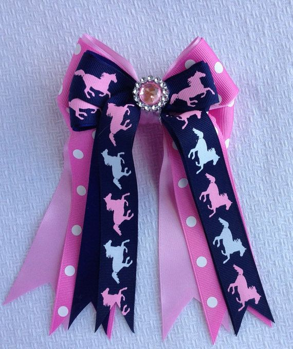 Pony Kids' Horse Show Hair Bows by BowdanglesShowBows on Etsy, $25.00 Click on picture for more details.