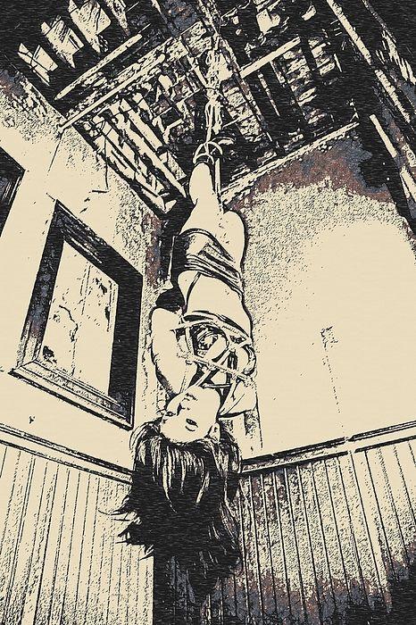 Upside Down - Girl In Bondage
