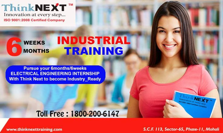 """ ThinkNEXT Innovation at every step... "" Pursue your 6months/6weeks Electrical Engineering Internship from No.1 Training & Placement company - ThinkNEXT. Hurry Up !!! The New Batches of Electrical Engineering Training course will going to start soon register now. Visit our Webpage to know more about this course:- http://www.thinknexttraining.com/industrial-training-electr… Or contact :- 1800-200-6147 Address:- SC.F 113, Sector 65, Mohali (Chandigarh)"