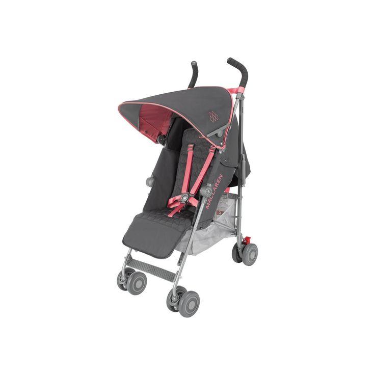Maclaren Quest Baby Umbrella Stroller - Gray/Pink