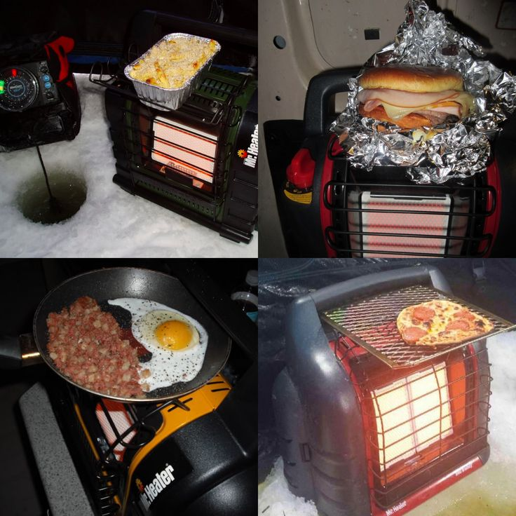 So Mr. Heater cooking is a camping thing? (Good to know it works!)
