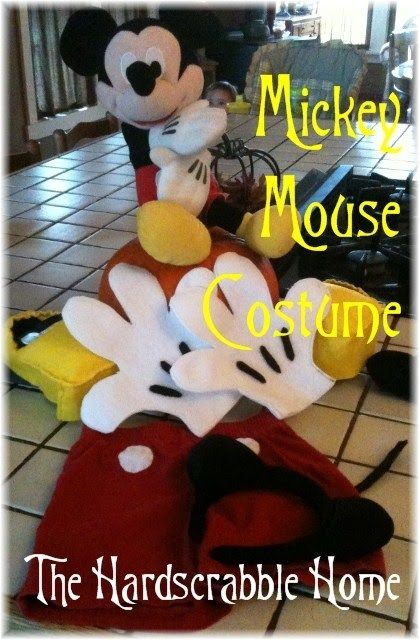 DIY Mickey Mouse Costume by The Hardscrabble Home