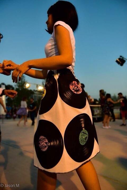 #vinyl #music #dance #love #midi #skirt