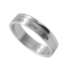 ONLY LOVE YOU - Love Ring / Promise Ring (SIZE 9) Size Width 6mm - Top Quality 316L Stainless Steel Womens Rings Size 6, 7, 8, 9 & 10. Stainless Steel Commitment Rings for women rings for teens girls. Purity Ring or Anniversary Gifts for her. I Love you Gifts. (9) (Jewelry)  http://documentaries.me.uk/other.php?p=B0065RIL0S  B0065RIL0S