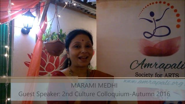 Marami Medhi, Kathak dance exponent was one of the guest speakers at 2nd Culture Colloquium - Autumn 2016.