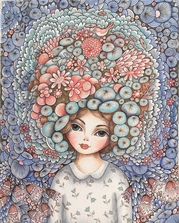 "160 Likes, 6 Comments - Mookoo Design & Illustration (@mookoodesign) on Instagram: ""Crazy hair. #art #artist #art_we_inspire #artoftheday #artwork #artistsoninstagram #illustration…"""