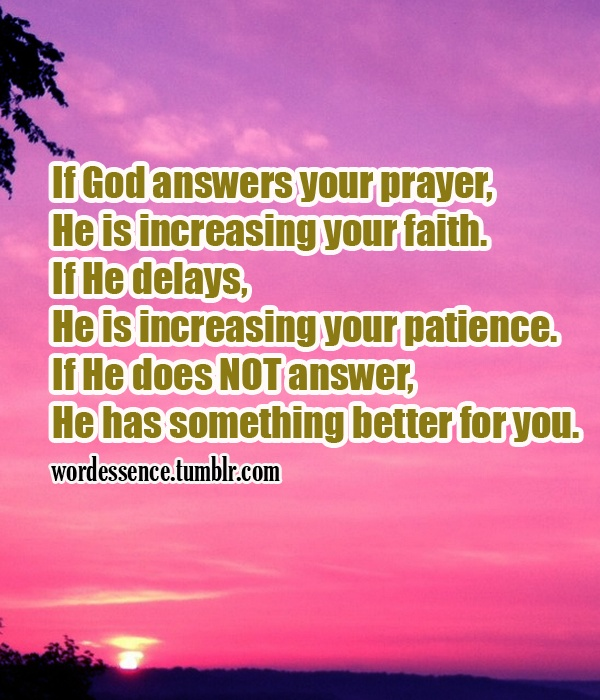 Does god answer prayers about love