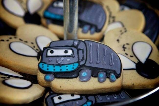 Garbage Truck Themed Birthday Party Cookies