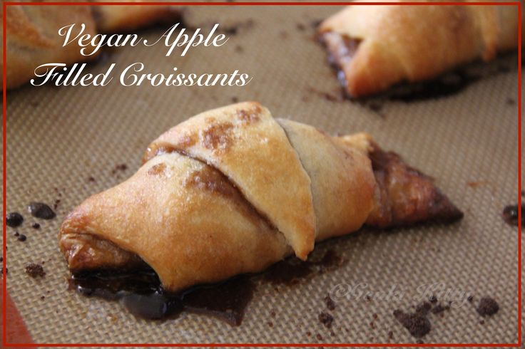 Fall Recipe for apple filled croissants vegan