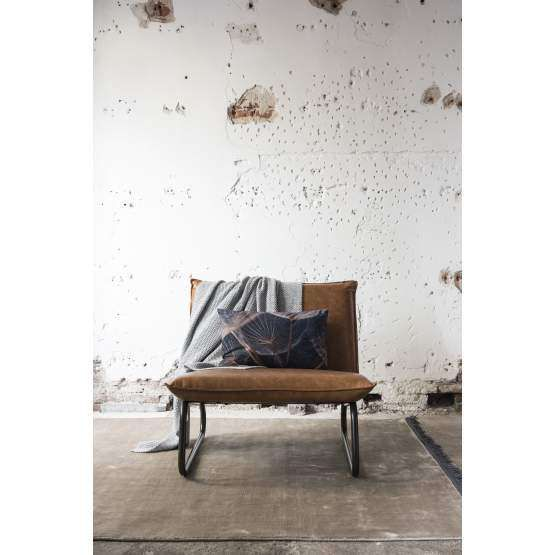 Fauteuil Yarra Bull recycled leather cognac, 83x90x83 cm