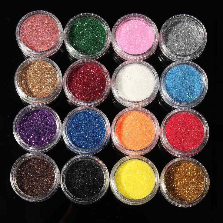 Profesional 16 Colores Mezclados Glitter Eyeshadow Sombra de Ojos Maquillaje Brillante Purpurina En Polvo Suelto Sombra de Ojos Cosméticos Maquillaje Pigmento
