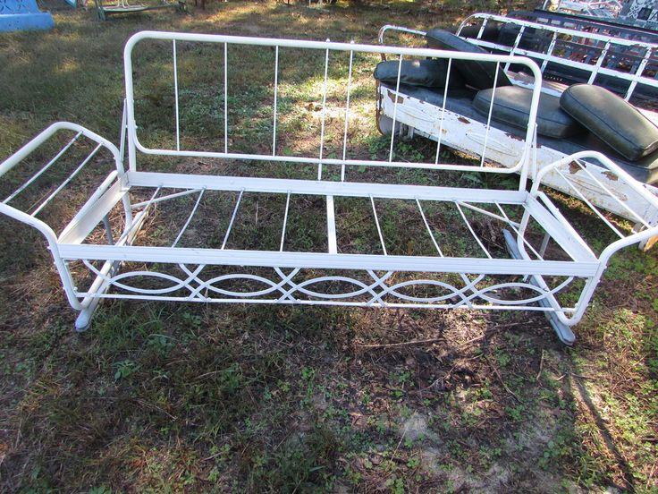Old Metal Porch Gliders,Vintage Outdoor Patio Porch Gliders,Vintage Metal Lawn  Chair,