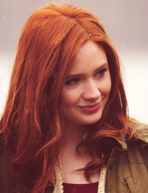 Karen Gillian. How can I be Scottish and not have gotten the ginger gene like Karen?? Her hair is perfect!