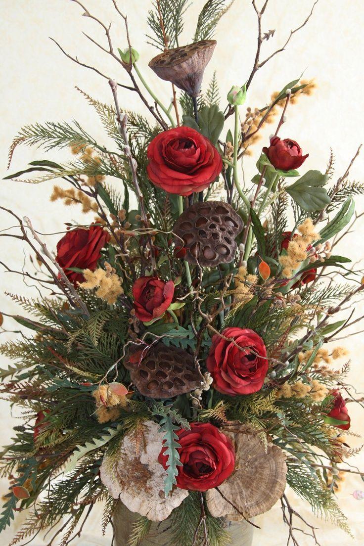 102 Best Images About Woodsy Floral Arrangements On Pinterest Christmas Floral Arrangements Fall Flower Arrangements Winter Flower Arrangements