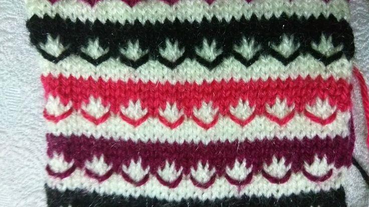 Easy Multicolor Knitting Pattern No. 7   Hindi
