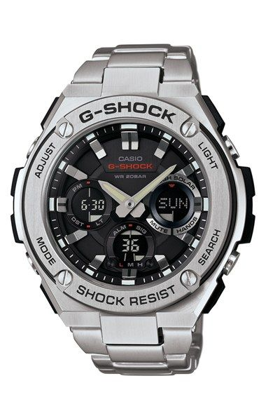 17 best images about great g shocks i love these watches most g shock g steel ana digi watch 52mm