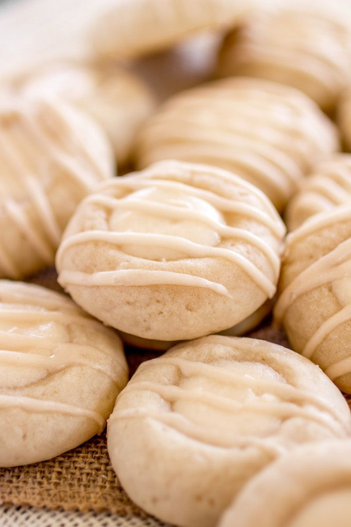 These soft and chewy cream cheese cookies are filled with a creamy cheese danish filling and topped with a sweet vanilla glaze!