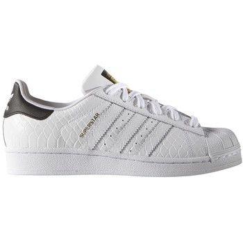 Adidas Boys Grade School Superstar White/Black Embossed Print