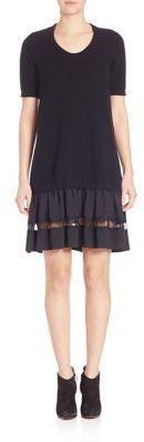 No.21 NO. 21 Lace Inset Knit Dress