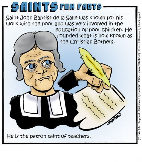 Saints Fun Facts for St. John Baptist de la Salle
