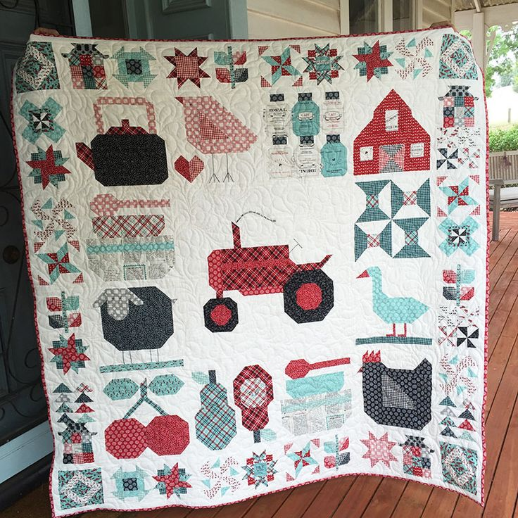 I started this quilt when the @beelori1 Farm Girl Vintage book sew along started back in May 2015. The tractor block was always going to be the star of the quilt, with all the other blocks set around it. Working out how to set the 16″ x 20″ block amongst...