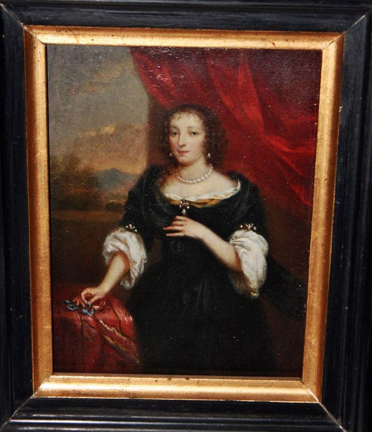 Queen Henrietta Maria of England, Scotland and Ireland. Rainha Henrietta Maria da Inglaterra, Escócia e Irlanda.