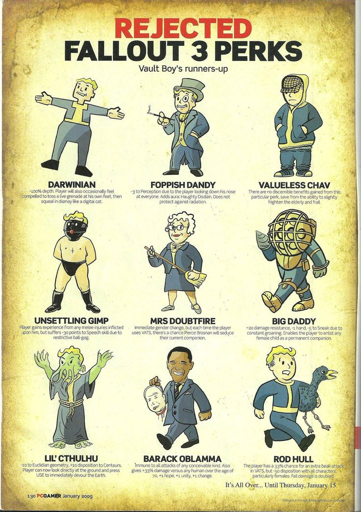 Fallout 3   Rejected Perks