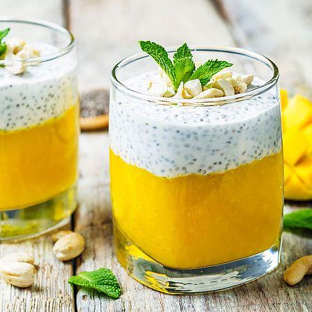 Low Carb Mango-Chia-Joghurt