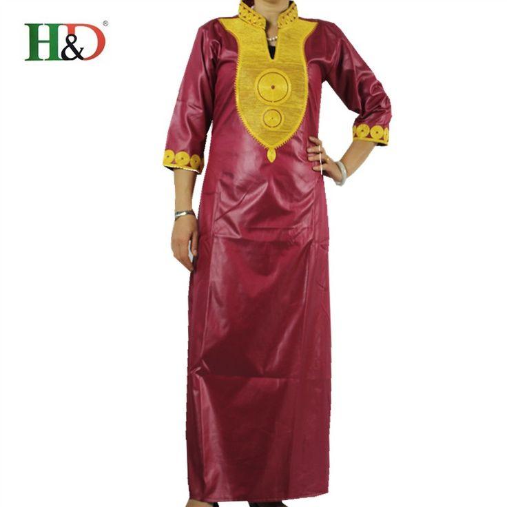 (شحن مجاني) الصيف أزياء نمط سيدة ماكسي اللباس الأفريقي الثراء طباعة قميص التطريز قفطان فساتين ل النساء