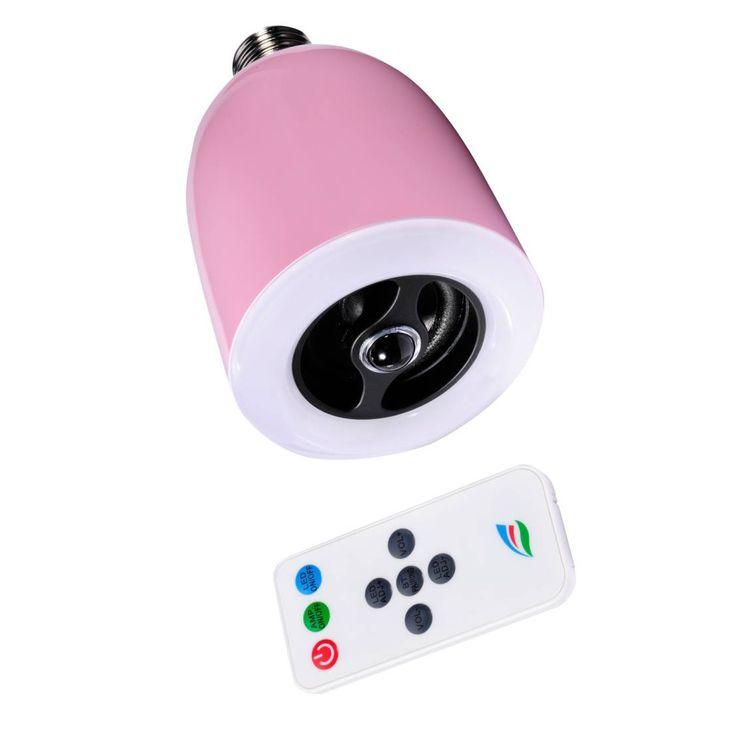 Die dimmbare Design-Lampe Boomer Light von Ultron kann Musik machen! In die Lampe ist ein Bluetooth-Lautsprecher integriert.