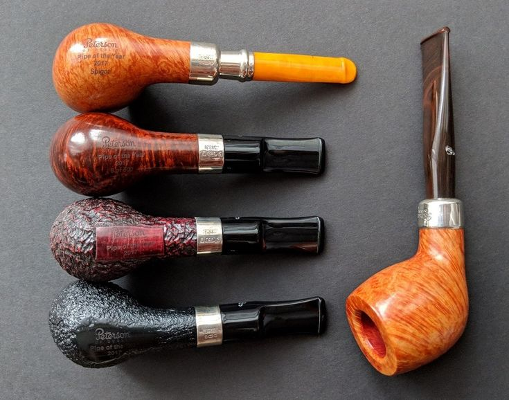 Peterson Pipe of the Year 2017: amber spigot, smooth, rustic, sandblast and kapp-royal D21.
