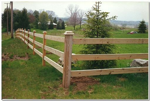 See An Enlarged Picture Of Our Split Rail Fence Work