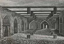 Drawing of the lower ground floor vault of the House of Lords where the gunpowder was stored.