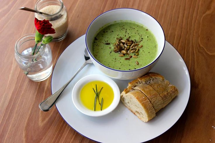 Broccoli and parmesan soup with toasted seeds #Peck47 - Urban Hypsteria
