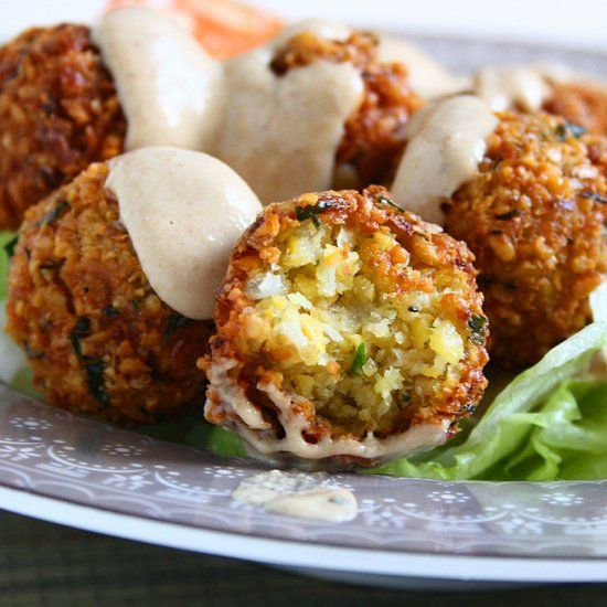 Homemade Falafels and Tahini sauce. Your favourite food made at home!