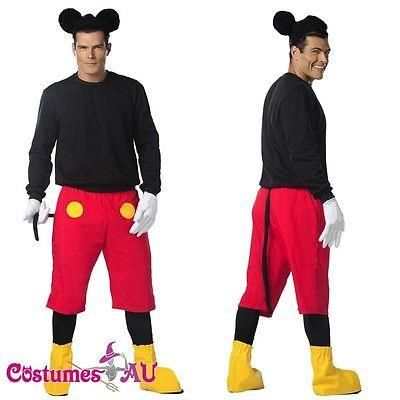 Costumes and reenactment attire: Mens Disney Mickey Mouse Costume Halloween Fancy Dress Adult Outfits BUY IT NOW ONLY: $49.99 #ustylefashionCostumesandreenactmentattire OR #ustylefashion