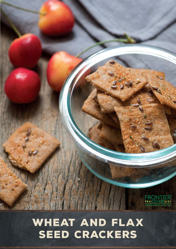Seasoned with garlic and rosemary, these wheat and flax seed crackers are the perfect back-to-school snack.