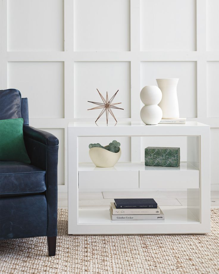 Atelier wide side table via serena lily find this pin and more on living room ideas