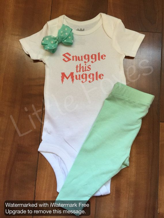 Snuggle this Muggle Harry Potter baby by LittleFoxesClothing