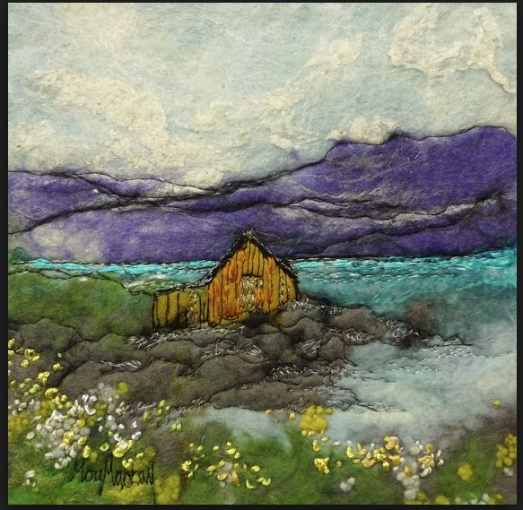The boat-shed by felt artist Moy Mackay More